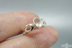 Žiedas su rožiniu kvarcu - ZDM1409