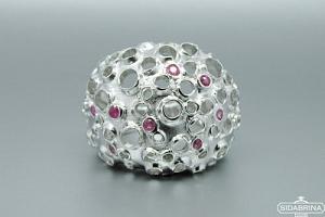 Žiedas su rubinais - ZDM865