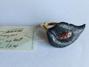 Žiedas su rubinu - ZDM1550
