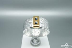 Žiedas su safyrais - ZDM1282