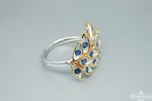 Žiedas su safyrais - ZDM1306