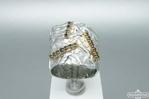 Žiedas su safyrais - ZDM881