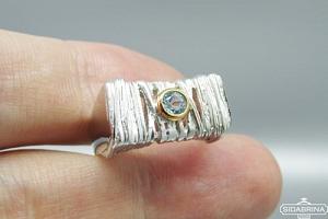 Žiedas su topazu - ZDM1301