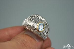 Žiedas su topazu - ZDM426