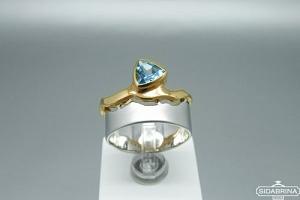 Žiedas su topazu - ZDM1523