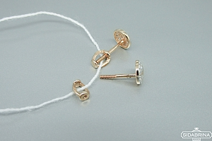 Auksiniai auskarai - AUA082