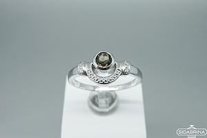 Žiedas su dūminiu kvarcu - ZDM1263