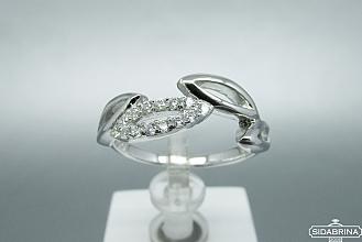 Žiedas su cirkoniais - ZDM762