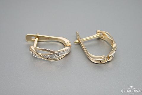 Auskarai su deimantais - DAU006