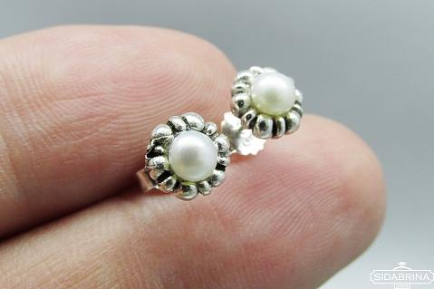 Auskarai su perlais - AUM1062