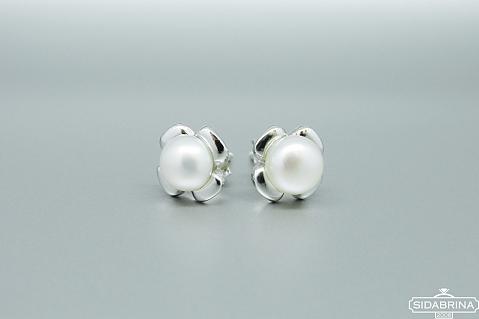 Auskarai su perlais - AUM1457