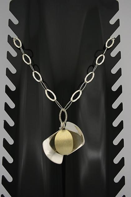 Paauksuotas sidabrinis kolje - KOL008