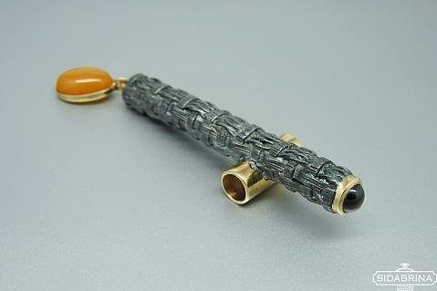 Pakabukas su natūraliais akmenimis - PAM827