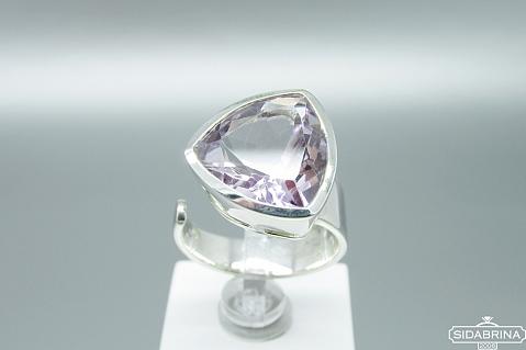 Žiedas su ametistu - ZDM1105