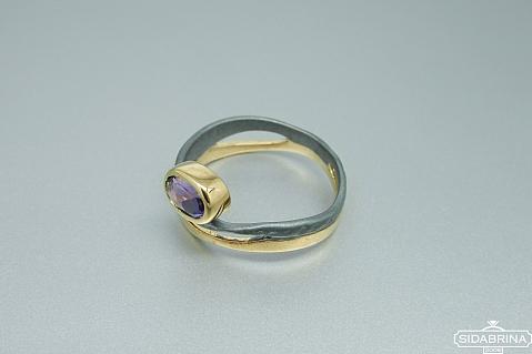 Žiedas su ametistu - ZDM1414