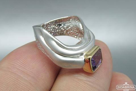 Žiedas su ametistu - ZDM720