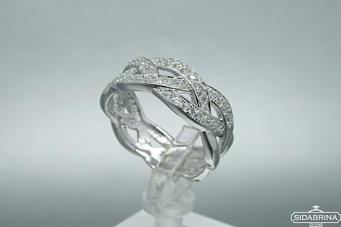 Žiedas su cirkoniais - ZDM755