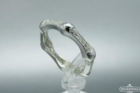 Žiedas su cirkoniais - ZDM778