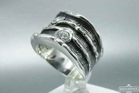Žiedas su cirkoniais - ZDM833