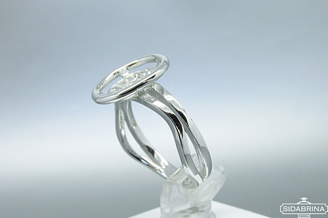 Žiedas su cirkoniais - ZDM992
