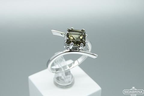 Žiedas su dūminiu kvarcu - ZDM1356