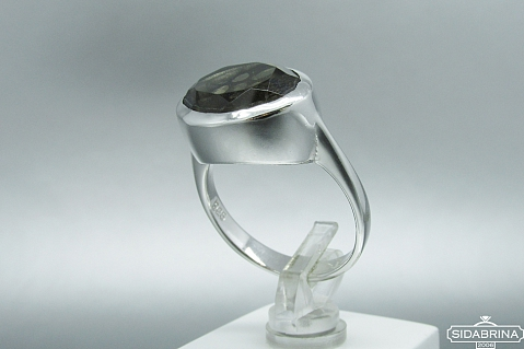 Žiedas su dūminiu kvarcu - ZDM807