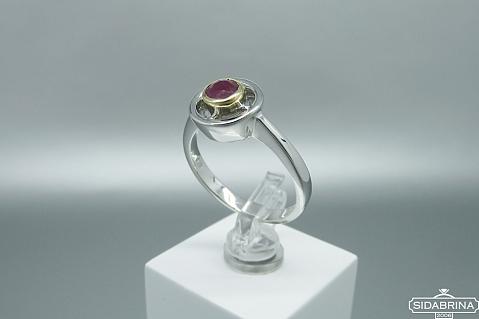 Žiedas su korundu - ZDM1493