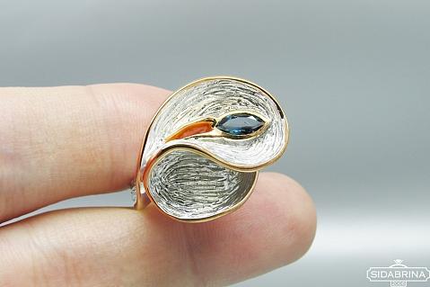 Žiedas su Londono topazu - ZDM1223