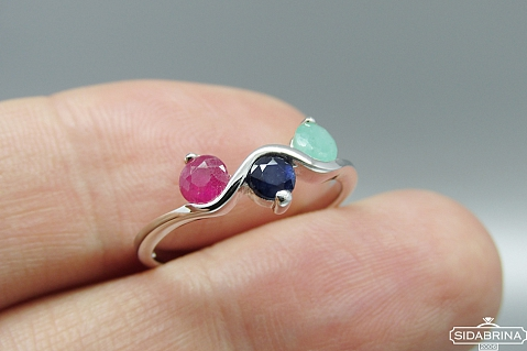 Žiedas su natūraliais akmenimis - ZDM1075