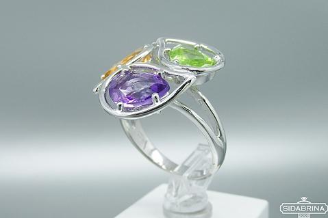 Žiedas su natūraliais akmenimis - ZDM1144