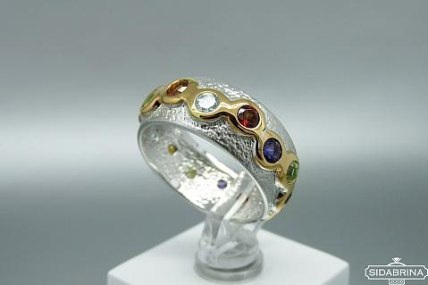 Žiedas su natūraliais akmenimis - ZDM1220