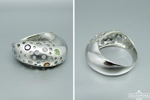 Žiedas su natūraliais akmenimis - ZDM1286