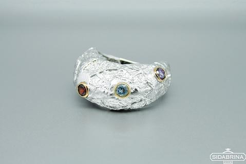 Žiedas su natūraliais akmenimis - ZDM1294