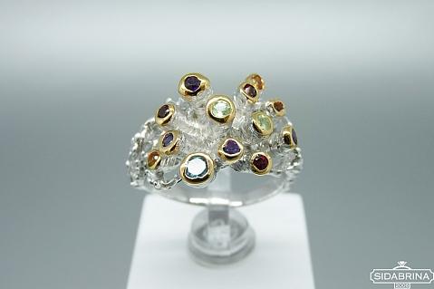 Žiedas su natūraliais akmenimis - ZDM1418