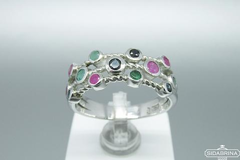 Žiedas su natūraliais akmenimis - ZDM922