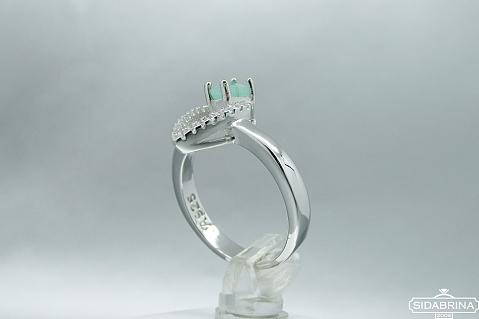 Žiedas su natūraliu akmenimi - ZDM1031