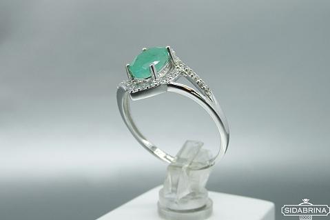 Žiedas su natūraliu akmenimi - ZDM1037