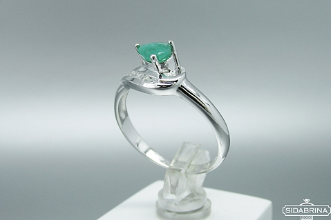 Žiedas su natūraliu akmenimi - ZDM1073