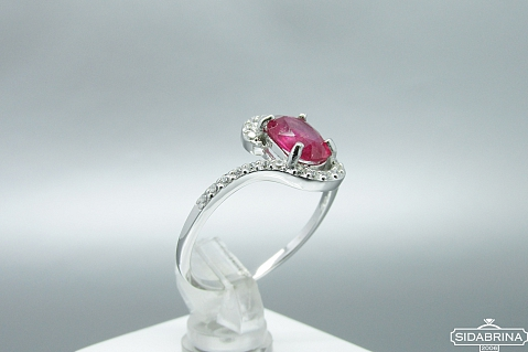 Žiedas su natūraliu akmenimi - ZDM836