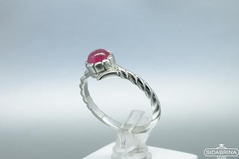 Žiedas su natūraliu akmenimi - ZDM943