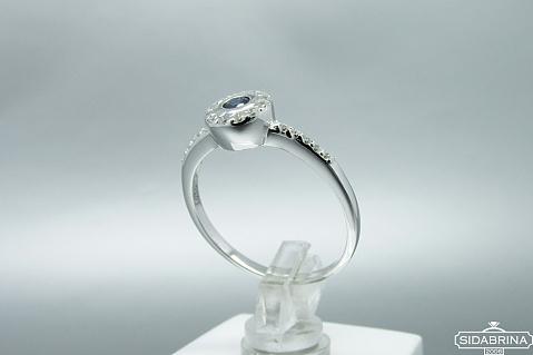 Žiedas su natūraliu akmenimi - ZDM944