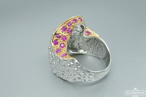 Žiedas su rubinais - ZDM815