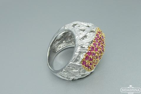 Žiedas su rubinais - ZDM916