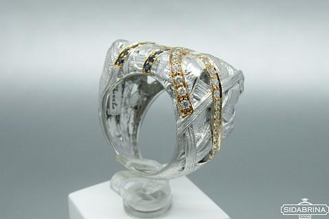 Žiedas su safyrais - ZDM1099