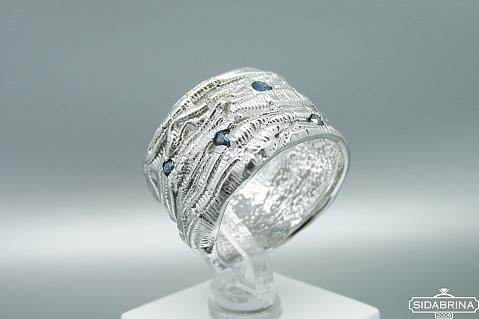 Žiedas su safyrais - ZDM1251