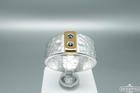 Žiedas su safyrais - ZDM1283