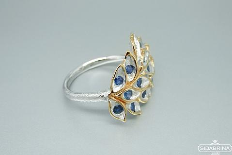 Žiedas su safyrais - ZDM1311