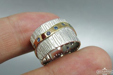 Žiedas su safyrais - ZDM958