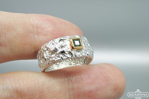 Žiedas su safyru - ZDM1296