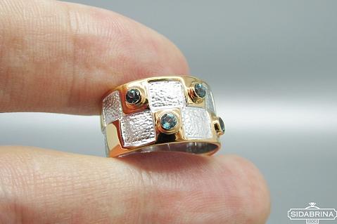 Žiedas su topazais - ZDM1288